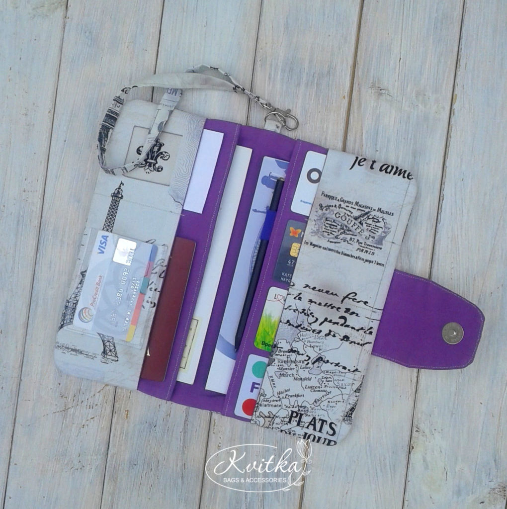 Travel wallet by #KvitkaBags #travelwallet