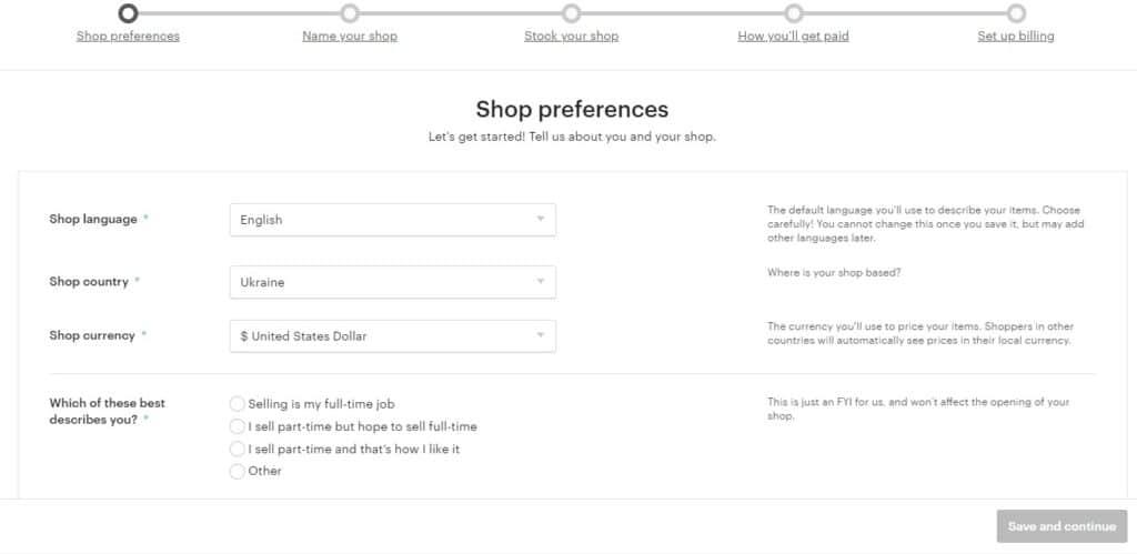Как открыть Etsy магазин? Регистрация на Этси | cbiz.club